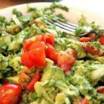 guacamole avocat poivron ciboulette sel poivre tomate