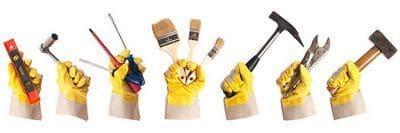 reprise travaux maison foyer peinture marteau