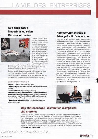 articles de presse magazine revue magazine cci